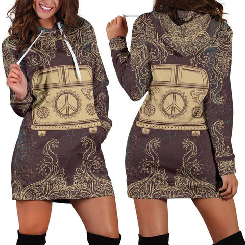 Hippie Bus Women's Hoodie Dress
