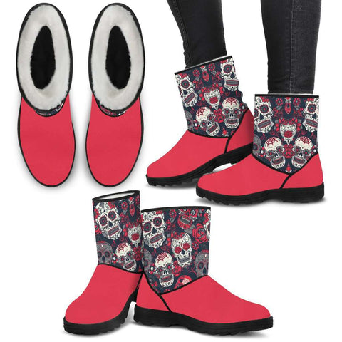 Image of Sugar Skull  Fur Boots