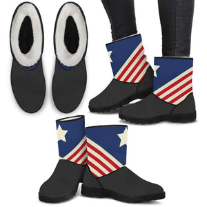 USA Flag Faux Boots