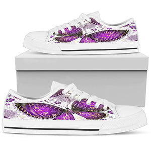 Violet Gold Butterfly Women's Low Top