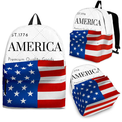 White AMERICA Backpack