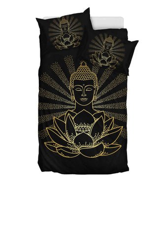 Buddha and Lotus Bedding Set