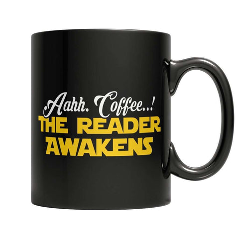 Image of Aahh Coffee The Reader Awakens Mug
