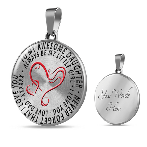 To My Awesome Daughter I Love You Love Dad Necklace