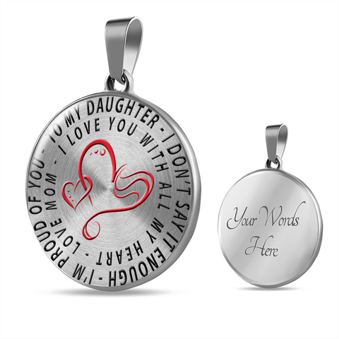 Image of To My Daughter Love Mom Necklace