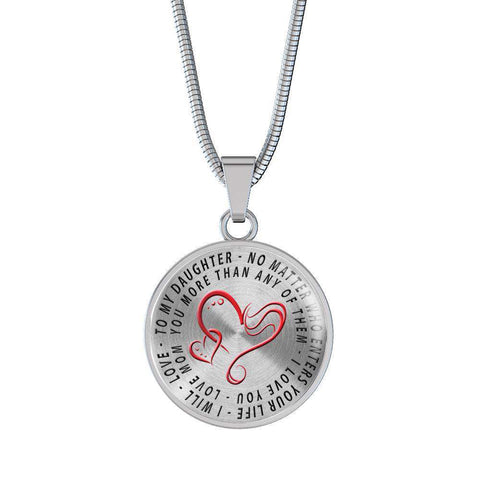 To My Daughter Love Mom Necklace cool