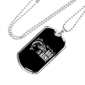 My Old Man Is Bad To The Bone Luxury Dog Tag
