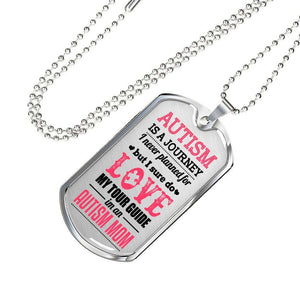 Autism Mom Dog Tag Necklace