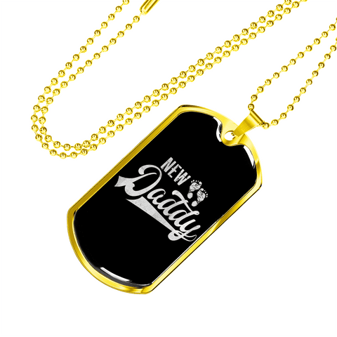 Image of New Daddy Luxury Dog Tag