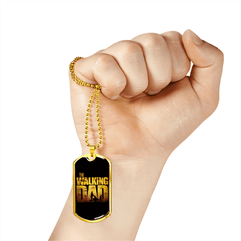 Image of The Walking Dad Luxury Dog Tag