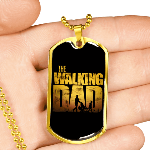 The Walking Dad Luxury Dog Tag