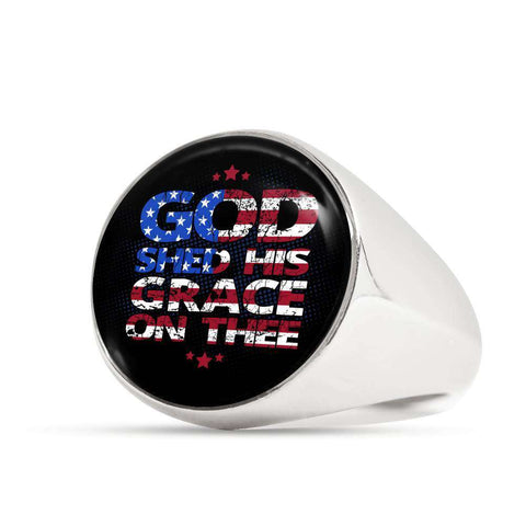 God Shed His Grace On Thee Signet Ring