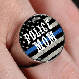 Police Mom Signet Ring