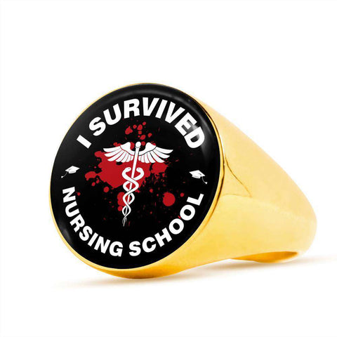 I Survived Nursing School Signet Ring