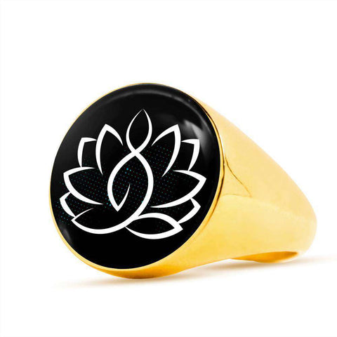 Lotus Yoga Signet Ring