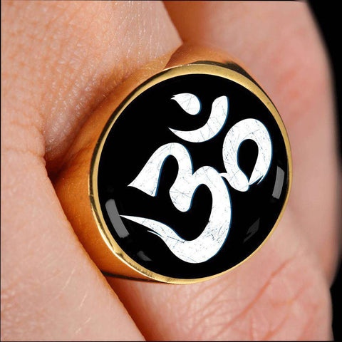 Yoga Aum Signet Ring
