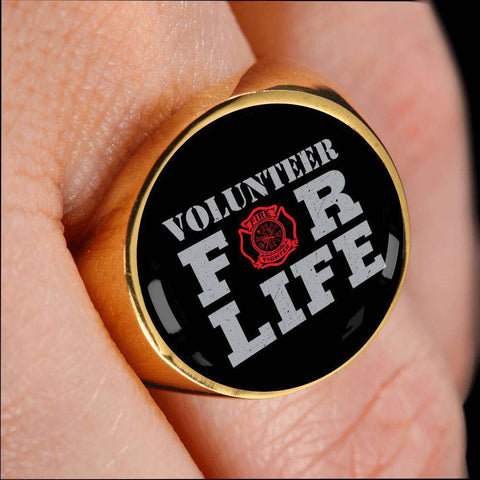 Firefighter Volunteer Signet Ring