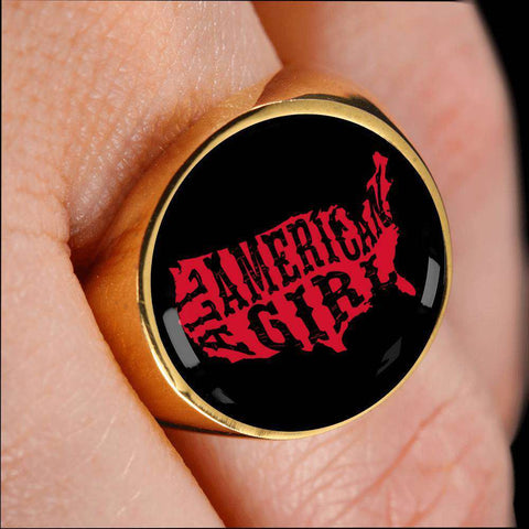 American Girl Signet Ring