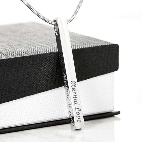 Image of Personalized Gold Vertical Bar Stick Necklace