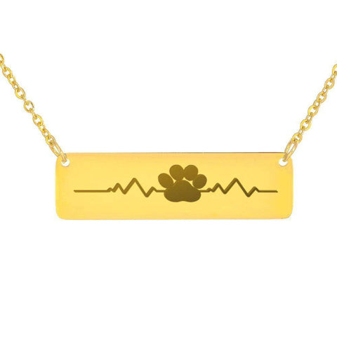 U.S.A. Free Plus Shipping Dog Paw Horizontal Bar Necklaces