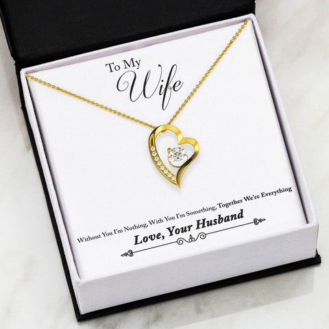 Image of Wife Christmas gift, To My Wife Necklace, Husband to Wife Necklace,Husband to Wife Gift Heart Necklace,Christmas gift wife