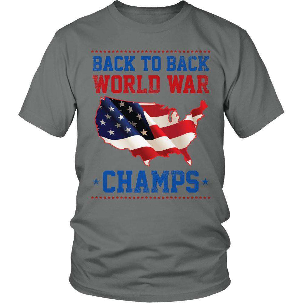 28adc0087 Back to Back World War Champs T Shirt. Double tap to zoom