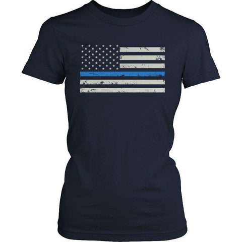 Blue Line Flag T Shirt