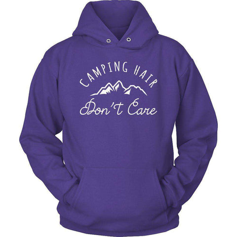 Image of Camping Hair Don't Care T Shirt