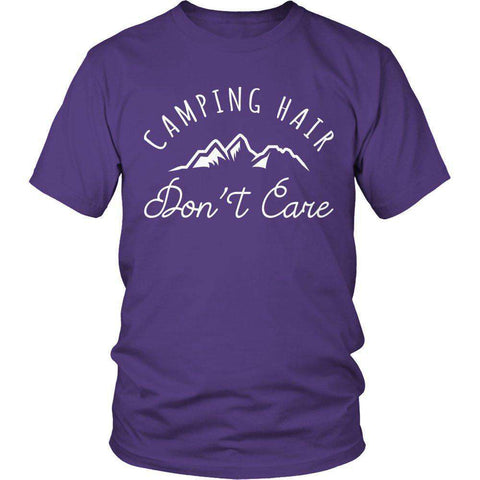 Camping Hair Don't Care T Shirt