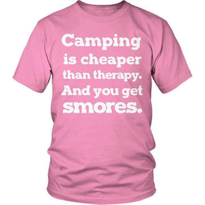 Camping Is Cheaper Than Therapy T Shirt
