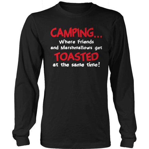 Image of Camping When Friends and Marshmallows Get Toasted at the Same time T Shirt