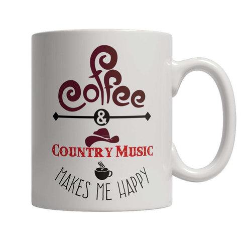 Image of Coffee and Country Music Makes Me Happy Mug