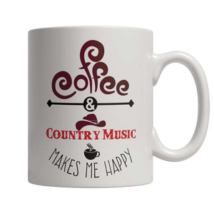 Coffee and Country Music Makes Me Happy Mug