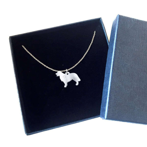 Gold Retriever Sterling Silver Necklace