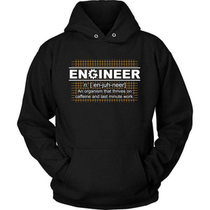 Engineer Thrives On Caffeine T Shirt