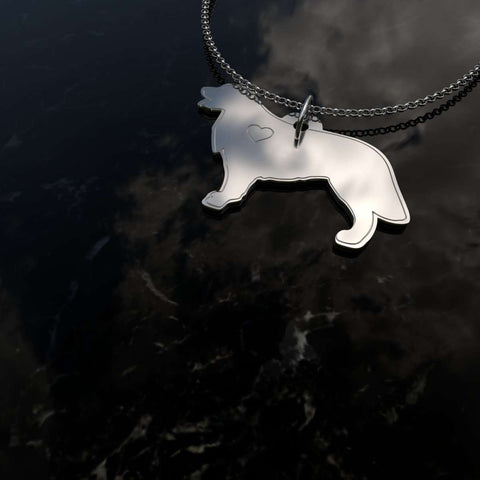 Image of Gold Retriever Sterling Silver Necklace