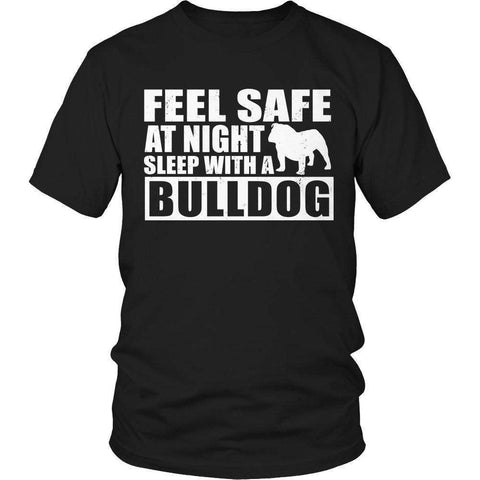 Image of Feel safe at night sleep with a bulldog T Shirt