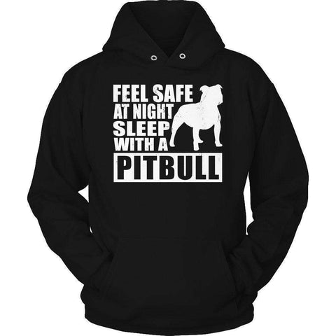Image of Feel safe at night sleep with a Pitbull T Shirt