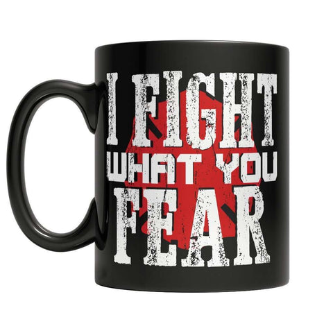 Image of Firefighters - I fight what you fear Massachusetts Brotherhood Mug