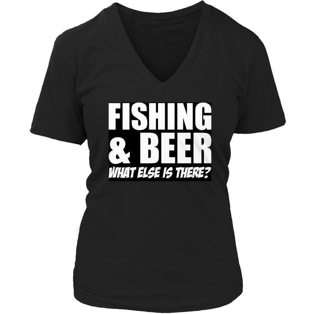 Fishing and Beer What Else is There? T Shirt-Hi Siena