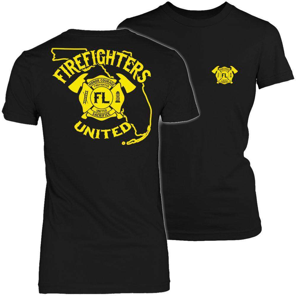 Florida Firefighters United T Shirt
