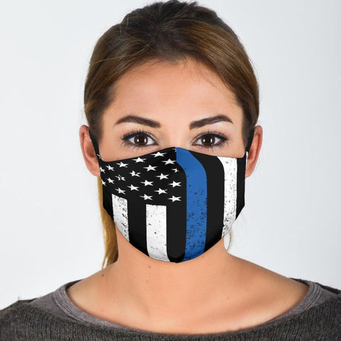 Face Masks with Filters Police Flag