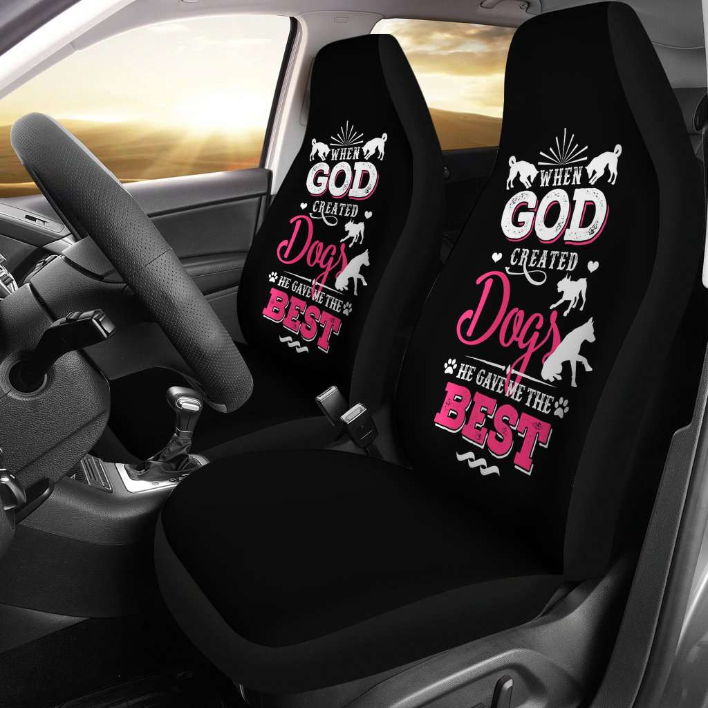 God Created Dogs Gave Me The Best Car Seat Covers