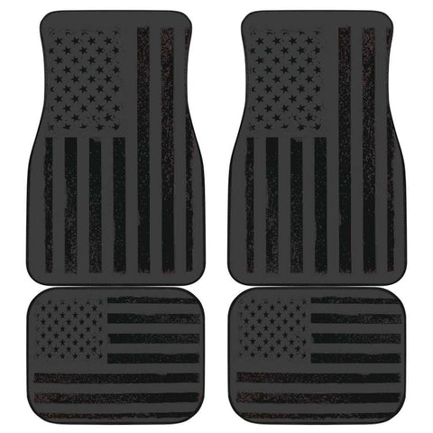 USA Flag Front and Back Car Mats set of 4