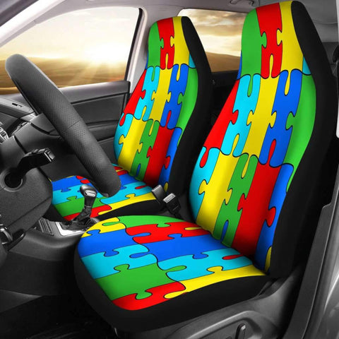 Image of Autism Jigsaw Puzzle Car Seat Covers