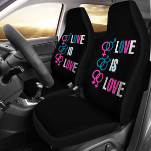 LGBT Pride Love Is Love Car Seat Covers