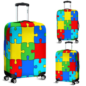 Autism Jigsaw Puzzle Luggage Covers