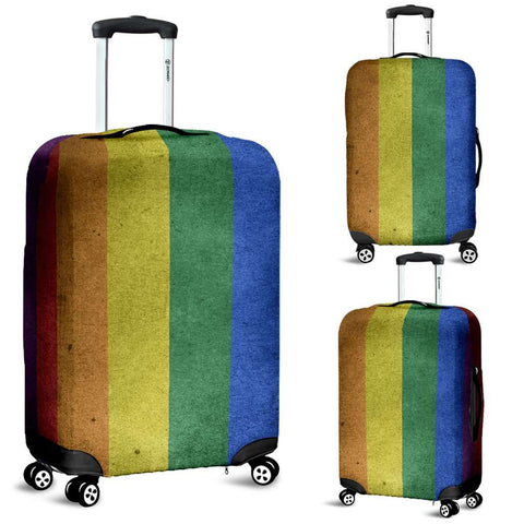LGBT Pride Lovers Distressed Flag Luggage Covers