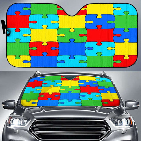Image of Autism Jigsaw Puzzle Auto Sun Car Shades