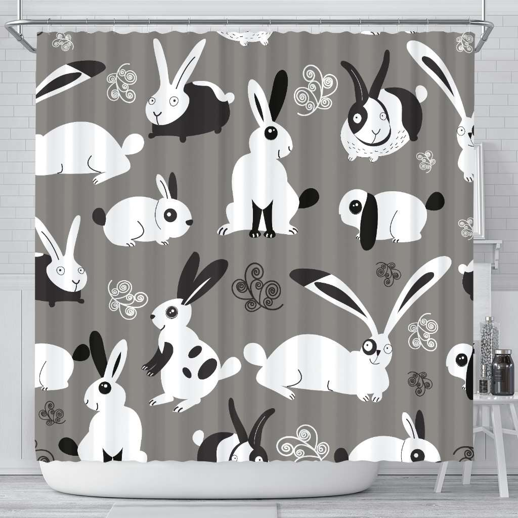 Image Of Bunny Rabbit Shower Curtain